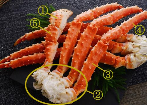 タラバ蟹足